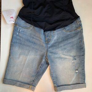 New Isabel Maternity Denim Jean Shorts